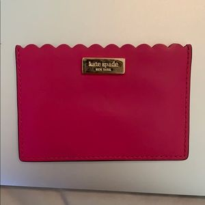 Kate Spade Card Holder - Pink Scalloped